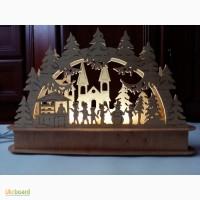 Новогодний светильник ручной работы