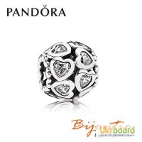 Pandora шарм бусина узы любви 791250CZ