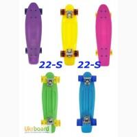 Скейт Penny 22-S skate board Cruiser Fish пенни 56 см светящиеся колеса