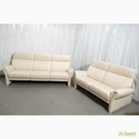 Продам 3+2 кожаные диваны