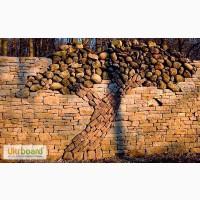 Забор под камень, профнастил с рисунком под камень