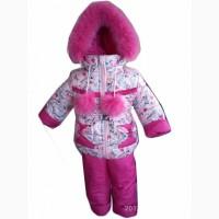 Зимняя курточка и комбинезон для девочки LOVE. 1-6 лет