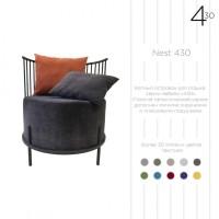 Металлическое круглое кресло