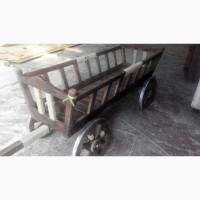 Декоративная телега, воз. Деревянные колеса для телег