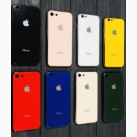 Glass Pastel color Logo Стеклянный чехол iPhone X/Xs iPhone Xs Max iPhone 6/6s iPhone 7/8