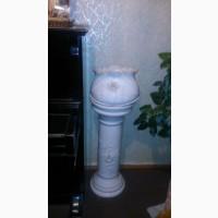 Ваза белая напольная керамическая стиль барокко