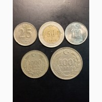 Подборка 5 монет. 1988-2009г. Турция