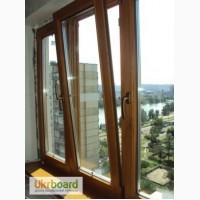 Окна деревянные, остекление балкона, установка окон, комплексная или частичная отделка бал