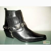 Ботинки казаки Etor зимние мужские. Натуральная цигейка.