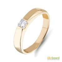 Золотое кольцо с бриллиантом 0,20 карат. НОВЫЕ (Код: 14903) Есть и в белом золоте!