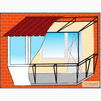 Ремонт, замена кровли (крыши) балкона