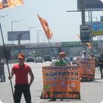 Услуги флагистов, баннеристов (промоутеры с флагами и баннерами) раздача листовок