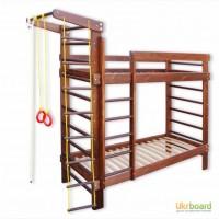 Двухъярусная кровать с шведской стенкой, спортивный уголок