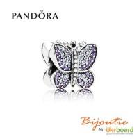 PANDORA шарм бусина сяючий метелик 791257ACZ
