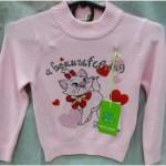 Детская трикотажная кофта Кошечка для девочек 2-5 лет