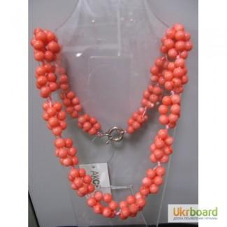 Ожерелье из коралла розового, коралл натуральный, цвет нежно розовый Коралл - натуральн