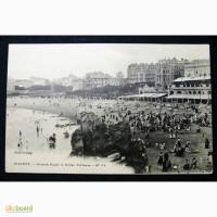 Открытка(ПК). Франция. Биарриц. Пляж. Готель Виктория. Лот 214