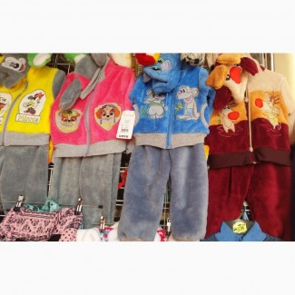 Детские махровые костюмчики от полугода до 2 лет