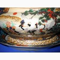 Китайская суповница-соусница Royal Satsuma ручной работы