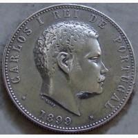 Португалия 1000 рейс 1899 г. серебро ОРИГИНАЛ!!! ОТЛИЧНОЕ СОСТОЯНИЕ