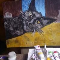 Картина-черный кот