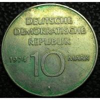 ГДР 10 марок 1974