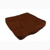 Подушка для сидения, Вельвет, орех, 40х40х7см. арт. 131502