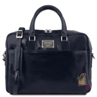 Кожаный портфель для ноутбука Tuscany Leather TL141241 (темно синий)