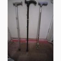 Трость палочка инвалидная 3 шт для ходьбы с регулировкой длины и шипам