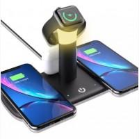 Зарядное устройство 5 IN1 Fast wireless charge 15W with NIGHT LAMP Беспроводное зарядное