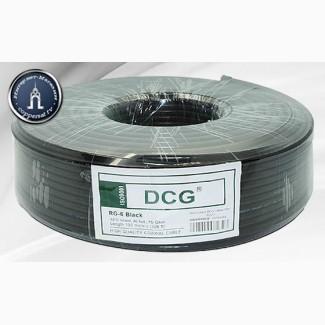 Кабель телевизионный DCG RG-6 Black 100 m