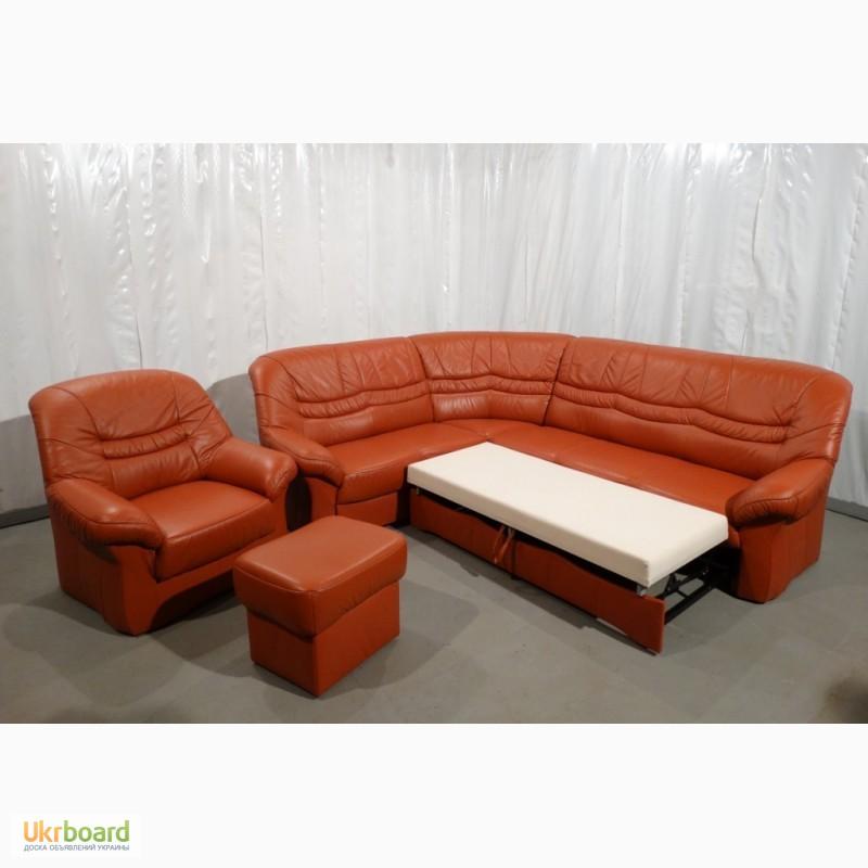Угловой кожаный диван купить