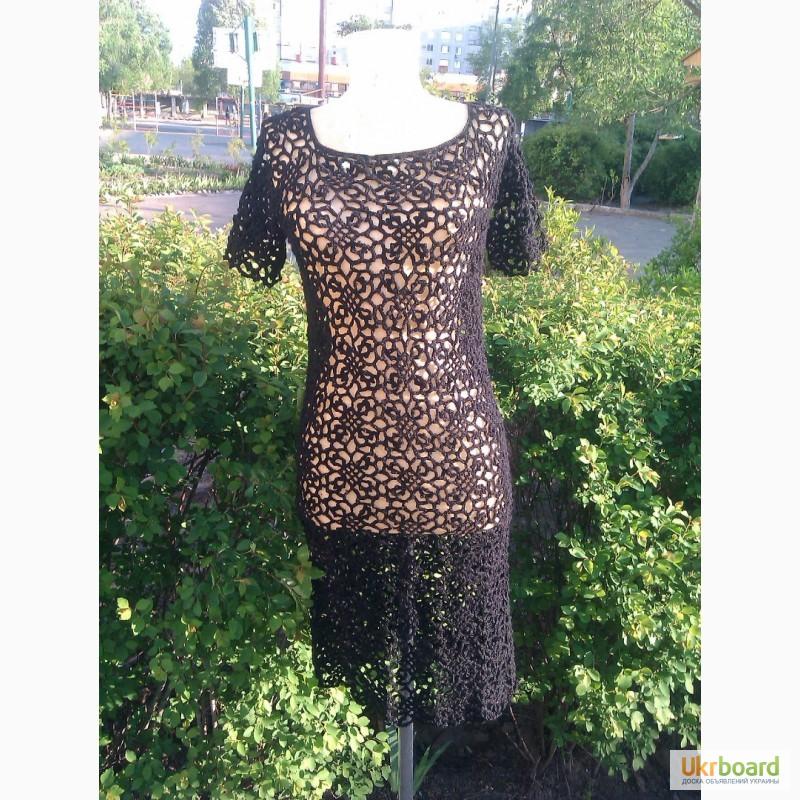 Продам вязаное крючком платье
