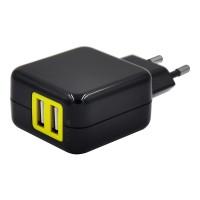 Двухпортовый USB AC адаптер 5V/2.4A для зарядки
