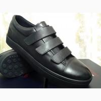Мужские стильные кеды-кроссовки на липучках Bertoni