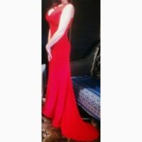 Красное платье jovani