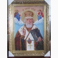 Икона Николай Чудотворец бисером