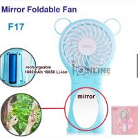 Вентилятор зеркало с ушками Remax (OR) Fan Mirror Foldable (F17)