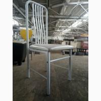Б/у стілець металевий білий для кафе, ресторана