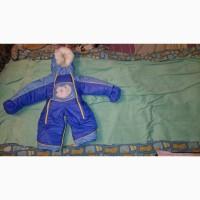 Детский зимний комбинезон на овчине 80 размер