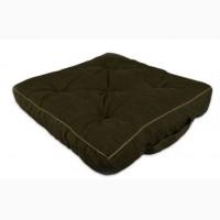 Подушка для сидения, , Вельвет, хаки, 40х40х7см. арт. 131501