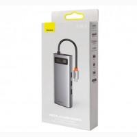 9 в 1 Переходник USB-C Хаб Baseus Metal Gleam Type-C HUB Docking Station 9 в 1