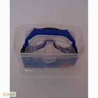 Маска для плавания в пластиковом боксе, силикон, стекло.