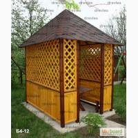 Беседки, качели, садовая мебель из дерева