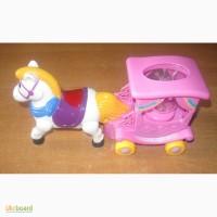 Пони. Музыкальная лошадка с каретой принцессы. Свет. Звук. Новая