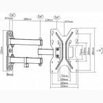 Крепление кронштейн для монитора телевизора 23-42 LDA11-223