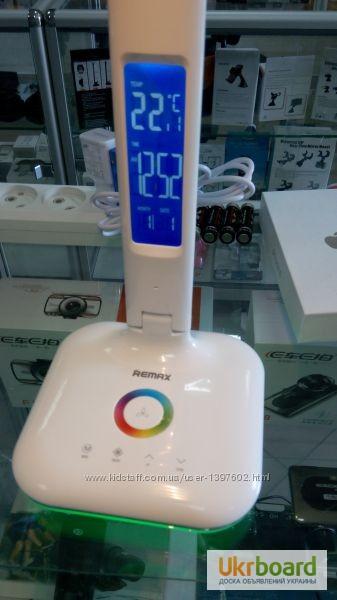Фото 3. Настольная LED лампа Remax RL-E270 с термометром Лампа может похвастаться тремя режимами