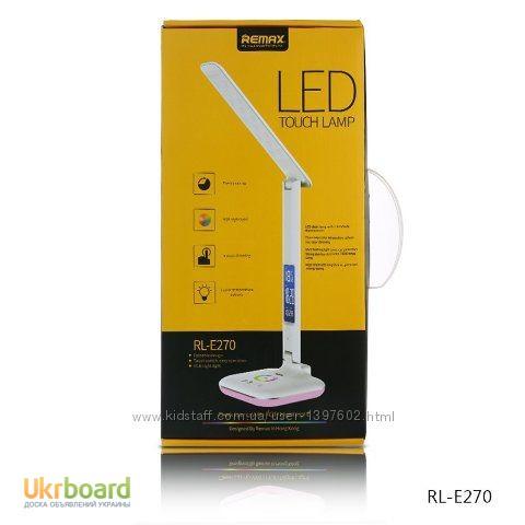 Фото 5. Настольная LED лампа Remax RL-E270 с термометром Лампа может похвастаться тремя режимами