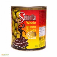 Оливки испанские Сеньорита гиганские с косточкой, 3кг