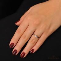 Классическое кольцо с бриллиантом, белое золото. Скидка 10 процентов